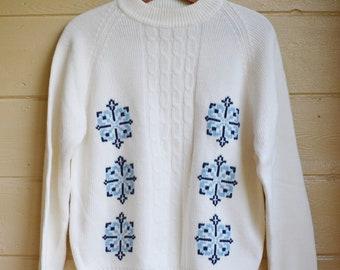 Christmas Sweater Ugly Christmas Sweater Holiday Sweater Snowflake Sweater Christmas Jumper