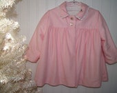 Vintage Millicent's of San Francisco pink swing coat for girls - adorable lined, soft velour jacket - about 2T