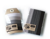 Shades of Greyscale - Gift Set of 5 Perfect Hair Ties and 3 Headbands -  Special Price