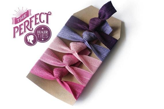 Perfect Hair Ties Spring Garden Set of 5 Elastic Hair Ties