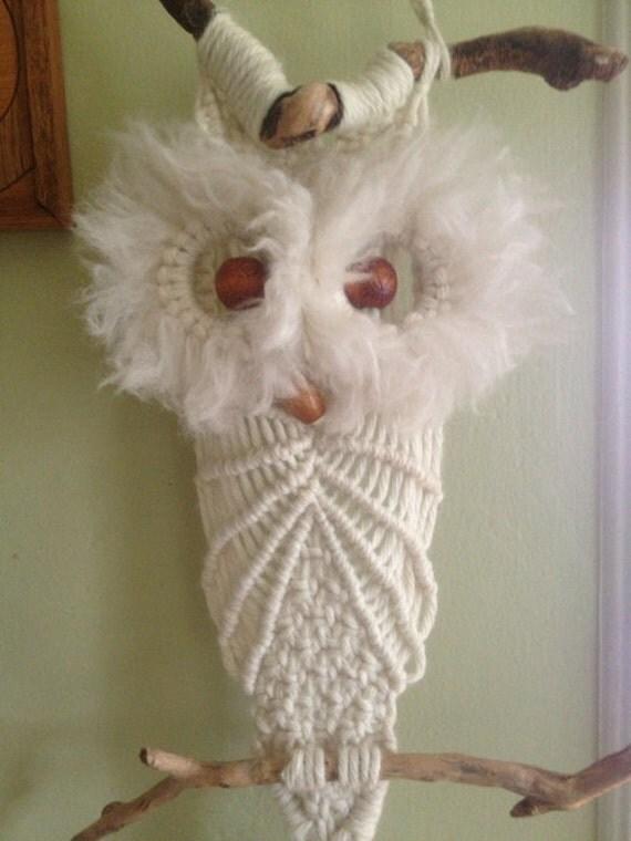 Vintage Macrame Owl Plant Hanger