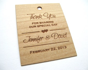 Gift Tags, Wooden Tags, Wedding Favor Tags, woodHang Tags, Wood tags, Custom tags, Wood Personalize wood tags, wood labels