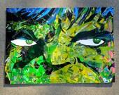 Hulk, Among Other Things - upcycled art