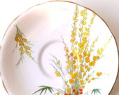 Royal Stafford Broom Pattern Saucer - Fine English Bone China from 1930s