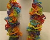 "Hand Knit Lacy Ruffle Scarf - Small Size - ""Fly a Kite"""