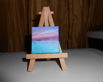 Miniature Sunset Painting
