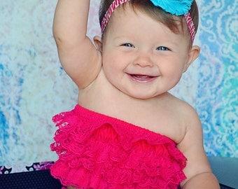 Shabby Baby Headband.Shabby Flower Headband.Shabby Headbands.Baby Girl Headbands.Shabby Chic.Zebra Headband.Baby Headband.Hot Pink Headband