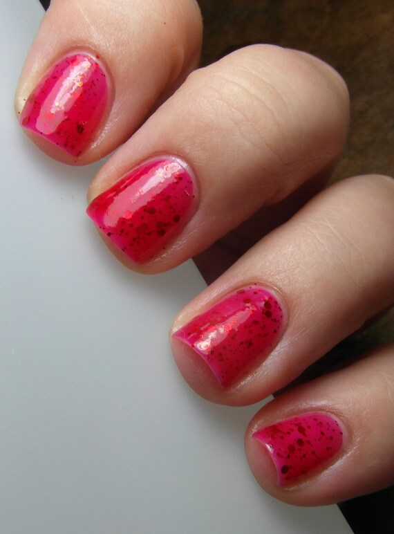 With a Cherry on Top Hand Mixed Glitter Nail Polish LIMITED EDITION
