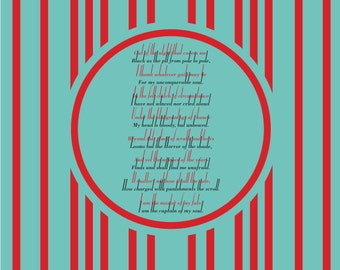 Invictus poem poster / William Ernest Henley