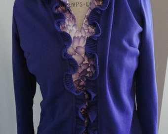 Lady Blair PURPLE Ruffle Jacket Sz 14