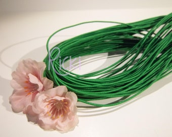 12 feet of 1mm Green Elastic Cord
