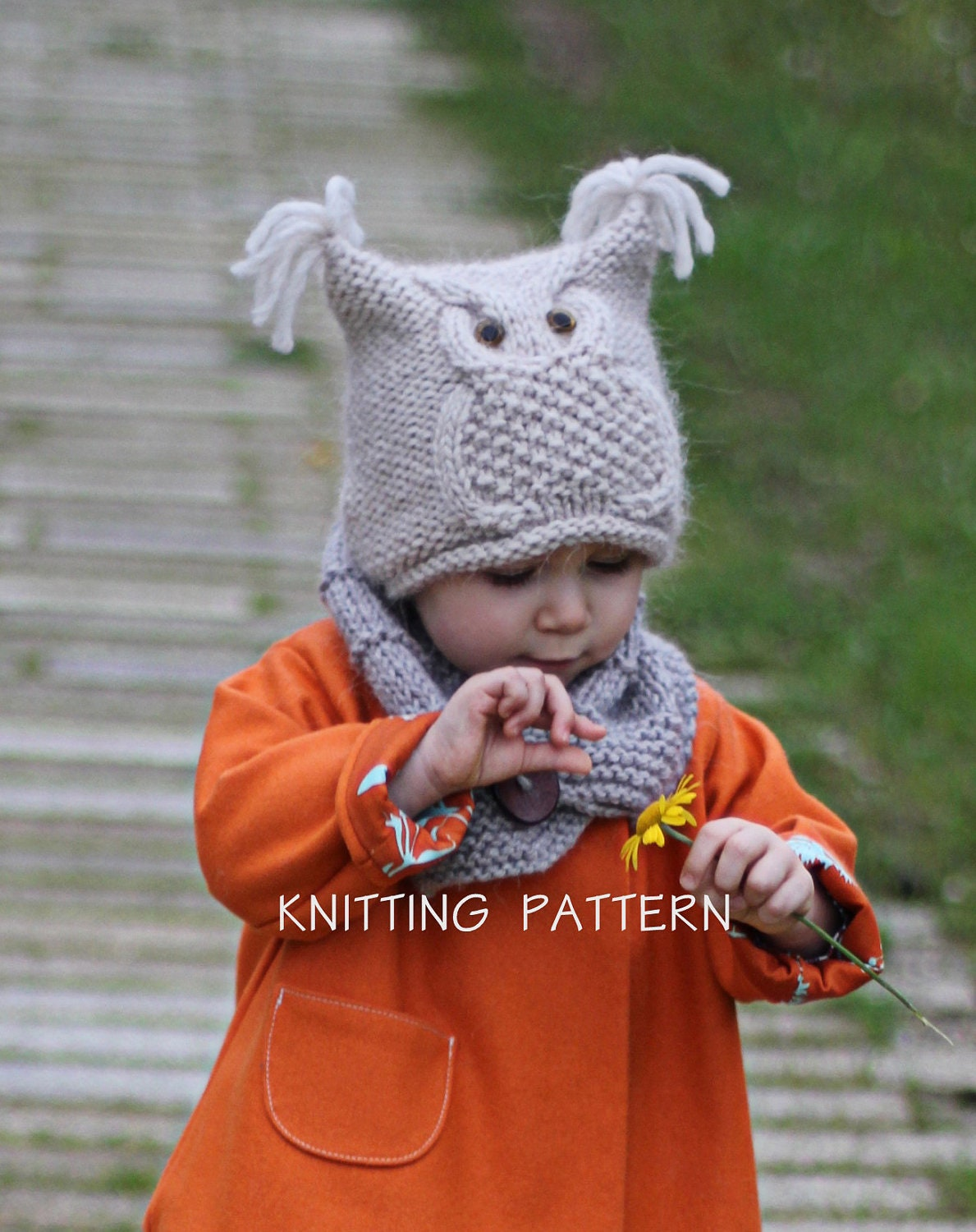 Owl Hat Knitting Pattern Chouette Toddler Child