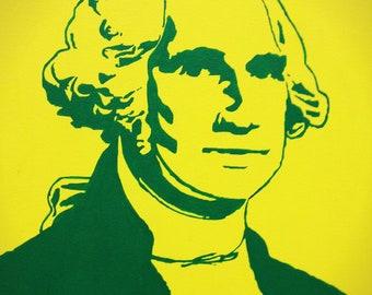 "George Washington President Portrait Custom Pop Art Painting 16""x20"" Canvas"