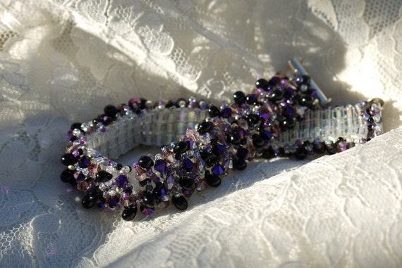 Dark Amethyst Drop Bracelet
