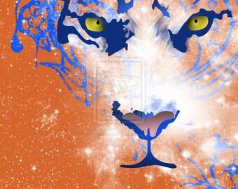 Zen Tiger (Art Print, 16x20, 11x14, and 4x6)