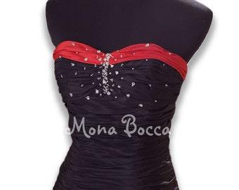 Victorian evening  Steampunk dress Goth dress Vampire gown prom dress ball gown Emo dress Wedding dress Made in UK
