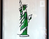 STATUE OF LIBERTY, Green (Medium):Hand Painted Work on Paper, Framed and Signed Edition of 50 by Jason Oliva