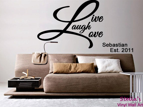 Live laugh love wall decal roselawnlutheran for Live laugh love wall art
