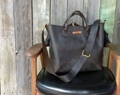 Extra Large Leather Tote - Hand Stitched Travel Bag - Leather Duffel - Large Leather Satchel - Carry On Bag