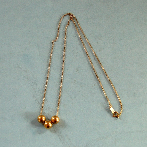 Vintage 14k Gold Add A Bead Necklace 16 1 2 By