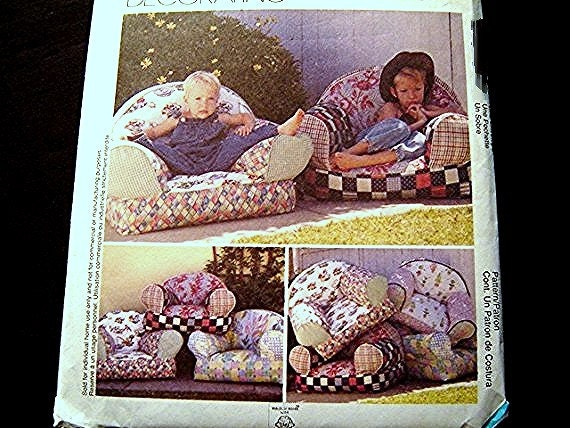 Mccalls pattern childs toddler kids size cozy overstuffed for Kids overstuffed chair