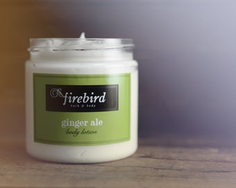 Ginger Ale Body Lotion, Avocado and Shea Butter Body Lotion