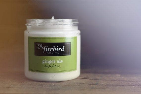 Gingerale Body Lotion, Avocado and Shea Butter Body Lotion