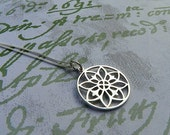 Sterling Silver Mandala Necklace