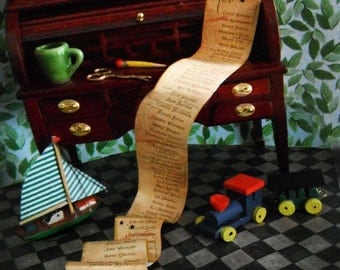 Miniature Naughty and Nice Lists