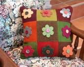 Mums - Felted Wool Pillow Lola's Flower Garden