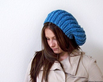Chunky Knit Hat With Pom Pom, Womens Slouchy Beanie Hat, Slouchy Hat, Slouch Beanie, Slouch Hat, Womens Hats, Oversized Hat, Knit Winter Hat