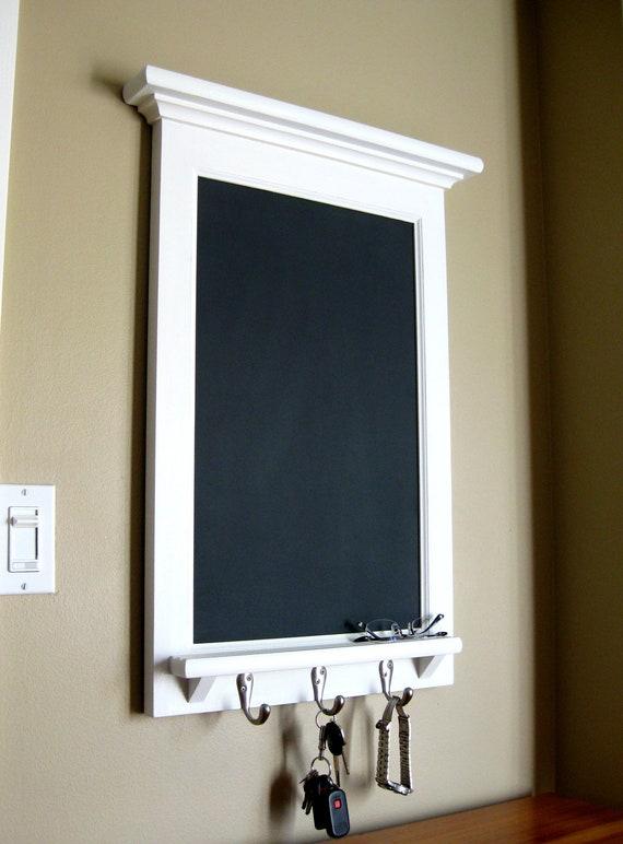 Chalkboard Organizer With Shelf Wood Framed By Rozemake On