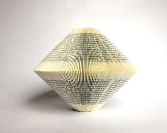 Night Train to Lisbon - Book Art: folded Book Sculpture