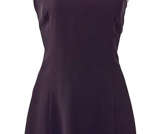 Black & White Plunge Back Dress: