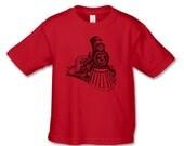 Train Brithday Shirt - Train Number 3 Birthday T-Shirt (Black Ink) - Train Party - 3rd Birthday Tshirt - Vintage Train Themed Party