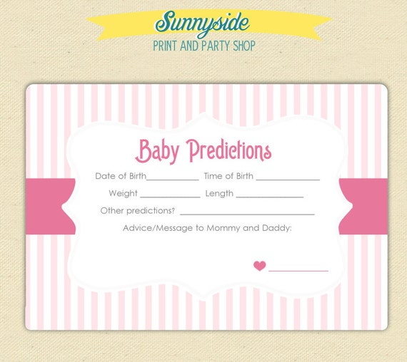 Crafty image with regard to baby prediction cards free printable