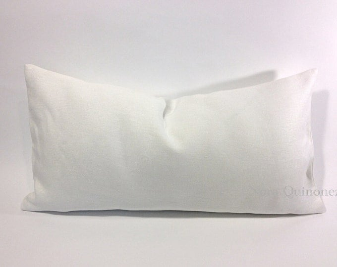 Decorative Bolster Pillow Cover- Medium Weight European Linen- Invisible Zipper Closure