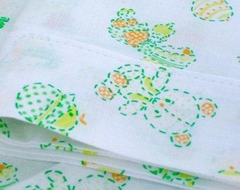 """Vintage Pillowcase - Set of 2 - Ducks, Teddy Bears & Rattles - 18""""L x 13""""W - NehiandZotz"""