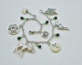 Sam Winchester Charm Bracelet - Mystery Spot - Black&Green