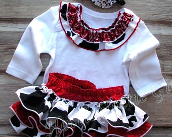 Western Cowgirl Ruffle Bloomer Set, Ruffle Diaper Cover, Sassy Bloomers, Baby Bloomers, Toddler,  Country Girl, Ruffle Skirt, Birthday Party
