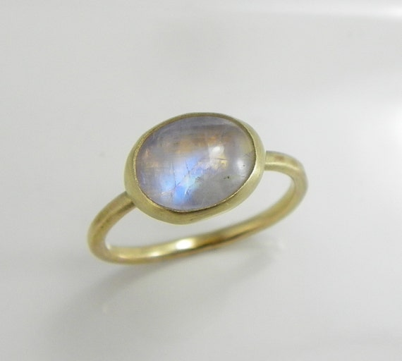 items similar to moonstone ring 14k gold rainbow