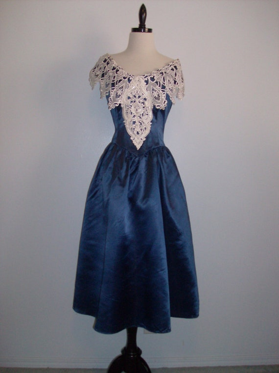 Vintage 1980s dressy dress party formal by eightiesladies for Vintage wedding dresses paris