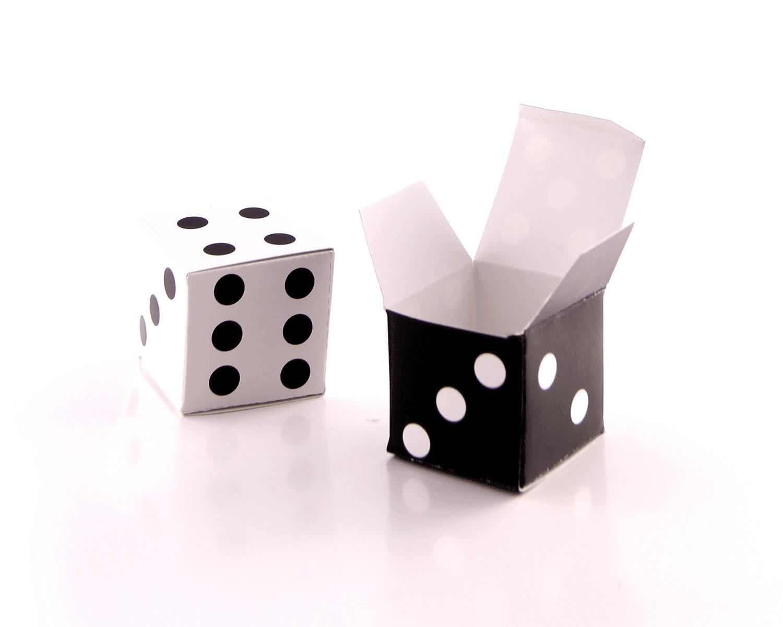 Lucky DICE Gift Favor Box Template LS Vegas by PaperScissorsPop