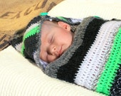 reserved - SLEEP SACK for baby crocheted striped