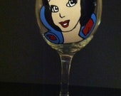 Snow White wine glass Made to order