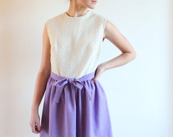 60s dress - lilac full skirt 1960s party dress