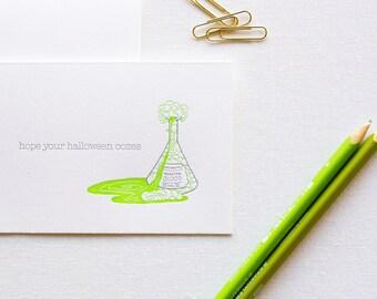Monster Ooze Letterpress Halloween Card
