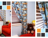 """Curtains- Window Panels -Nursery/ Kids Room Curtains - Boys Room Drapery - 2 panels - 55""""x96"""""""