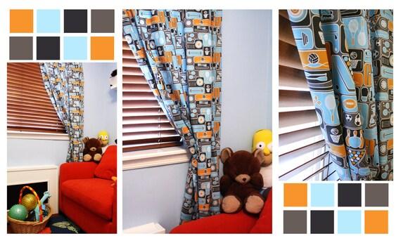 Curtains Ideas curtains boys room : Items similar to Curtains- Window Panels -Nursery/ Kids Room ...