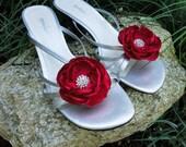 Wedding shoe clips Red shoe clips Flower shoe clips Bridal shoe clips Vintage shoe clips Flower shoe clip Bridal shoe clip Wedding shoes